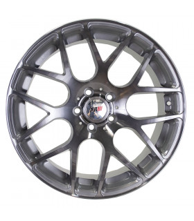 Rin 18X8 5-108 PRW Mod: P724 ET35 CB73.1 SILVER MACHINE FACE WITH DARK BLACK CLEAR COAT