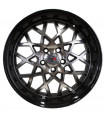 Rin 18X8 5-112 PRW Mod: P142 ET35 CB73.1 GLOSS BLACK MACHINE FACE WITH GLOSS BLACK LIP