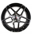 Rin 18X8.5 5-112 PRW Mod: P5224 ET35 CB73.1 GLOSS BLACK MACHINE FACE