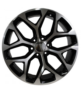 Rin 22X9 6-139.7 VOLLMACHT Mod: OMM06 ET31 CB78.1 GLOSS BLACK MACHINE FACE
