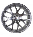 Rin 16X7 5-112 PRW Mod: P724 ET42 CB73.1 SILVER MACHINE FACE WITH DARK BLACK CLEAR COAT