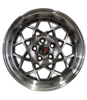 Rin 16X7 5-114.3 PRW Mod: P142 ET35 CB73.1 GLOSS BLACK MACHINE FACE