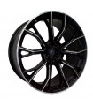 Rin 20X9.5 5-120 EQUIPO ORIGINAL Mod: 1368 ET38 CB72.56 BLACK WITH LIP POLISH AND MILLED SPOKES