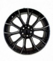 Rin 20X8.5 5-120 EQUIPO ORIGINAL Mod: 1368 ET30 CB72.56 BLACK WITH LIP POLISH AND MILLED SPOKES
