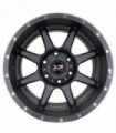 Rin 17X9 6-135 XP WHEELS Mod: 177 ET0 CB87.1 MATTE GRAY WITH MILLED RIVETS HOLES AND GLOSS BLACK LIP