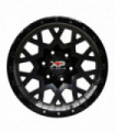 Rin 17X9 6-139.7 XP WHEELS MOD: LGS31 ET10 CB106.1 BLACK MACHINE FACE WITH BLACK CLEAR COAT