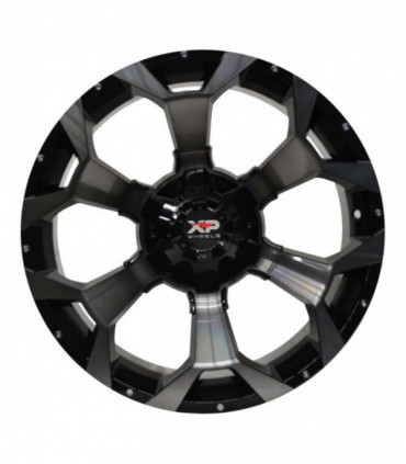 Rin 20X10 5-127/139.7 XP WHEELS MOD: 6011 ET0 CB87.1 GLOSS BLACK MACHINE WITH BLACK TINTED CLEAR COAT