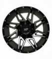 Rin 20X10 5-127/139.7 XP WHEELS MOD: 8049 ET-12 CB87.1 BLACK MACHINE FACE