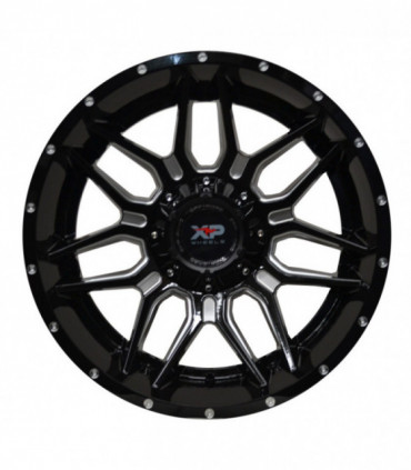 Rin 20X10 5-135/139.7 XP WHEELS MOD: 7053 ET-24 CB108.1 GLOSS BLACK WITH MILLED