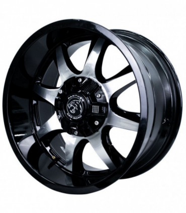 Rin 18X9 6-120/139.7 PANTHER Mod: 578 ET0 CB78.1 GLOSS BLACK MACHINED