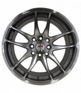 Rin 17X8 4-100/114.3 PRW Mod: P135 ET32 CB73.1 GUN METAL MACHINE FACE