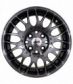 Rin 14X6 4-100/114.3 PRW Mod: P145 ET35 CB65.1 BLACK MACHINE FACE WITH TINTED CLEAR LIGHT SMOKE