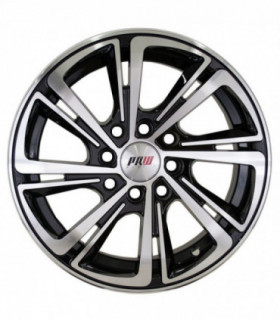 Rin 14X5.5 4-100/114.3 PRW Mod: P209 ET35 CB73.1 GLOSS BLACK MACHINE FACE