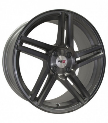 Rin 17X7.5 4-100 PRW Mod: P5025 ET35 CB73.1 SILVER GLOSS BRUSHNED FACE WITH BLACK CLEAR COAT