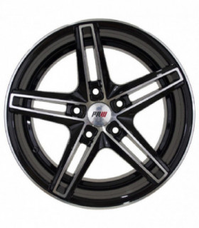 Rin 16X7.5 5-114.3 PRW Mod: P5039 ET30 CB73.1 BLACK MACHINE FACE