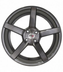 Rin 15X7 4-100 PRW Mod: P505 ET32 CB73.1 GLOSS SILVER/BRUSHNED FACE/BLACK CLEAR COATED