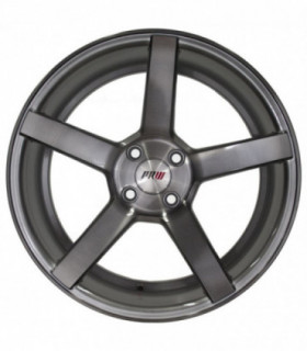 Rin 17X8 4-100 PRW Mod: P505 ET32 CB73.1 GLOSS SILVER/BRUSHNED FACE/BLACK CLEAR COATED