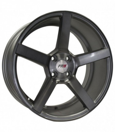 Rin 18X8 5-113 PRW Mod: P505 ET38 CB73.1 SILVER GLOSS BRUSHNED FACE WITH BLACK CLEAR COAT