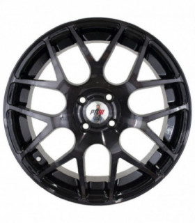Rin 16X7 5-114.3 PRW Mod: P724 ET35 CB73.1 BLACK MACHINE FACE WITH TINTED CLEAR MIDNIGHT SMOKE