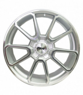 Rin 18X9.5 5-120 TSW Mod: SONOMA ET40 CB72.1 SILVER WITH MIRROR CUT FACE