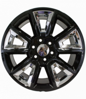 Rin 22X9 6-139.7 EQUIPO ORIGINAL Mod: W1383 ET24 CB78.1 GLOSS BLACK WITH CHROME INSERTS