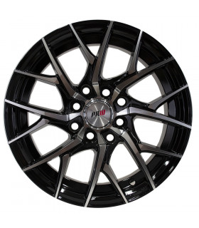 Rin 15X7 4-100/114.3 PRW Mod: P291 ET35 CB73.1 GLOSS BLACK MACHINE FACE