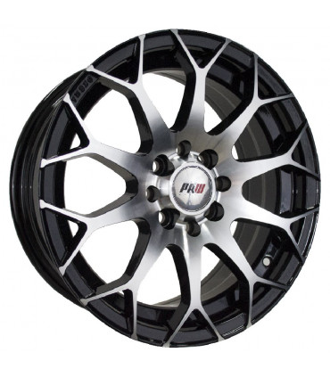 Rin 17X7.5 4-100/114.3 PRW Mod: P192T ET35 CB73.1 BLACK MACHINE FACE